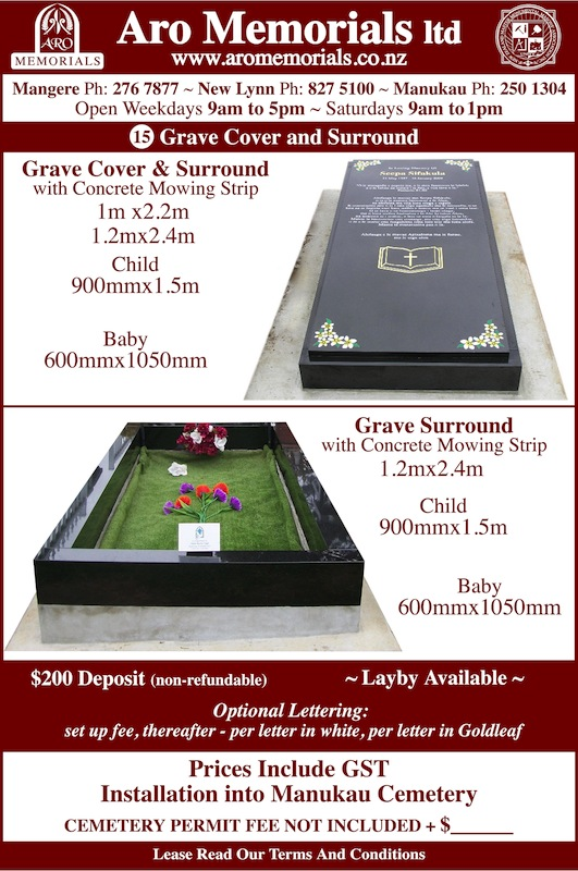 15 Grave cover and surround