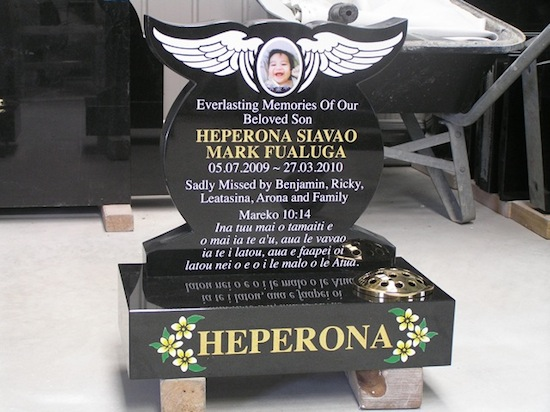 400 HIGH ANGEL WING HEADSTONE