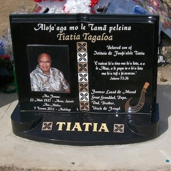 MIXED Special Custom Design headstone with large photo ceramic
