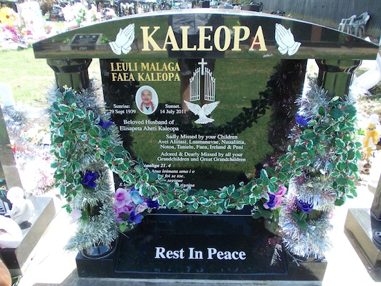 T PACIFIC TEMPLE HEADSTONE ALL BLACK GRANITE WITH SPECIAL ARTWORK